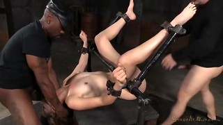 Pretty light-haired violently banged in the Domination & submission basement