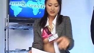 Asian nymphs frigged during the news