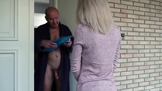 the man got astonished by his neighbor Missy Luv and her sexual needs