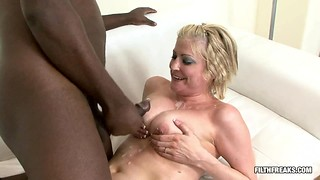 Blondie Cougar summons a bbc in a hard-core session
