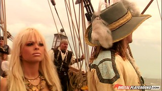 Pornography on a pirate ship with sweeties and immense man-meat dudes