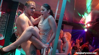 Dolls night out turns into a insane and furious hook-up in a club
