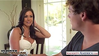 Fancy mummy Kendra Eagerness gets torn up and facialized