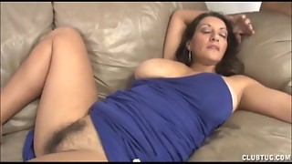 Big-boobed Cougar Hand-job And Slit Kneading