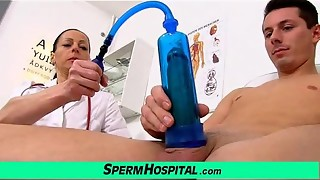 Czech cougar medic Renate mommy with dude polyclinic pearl juice extraction