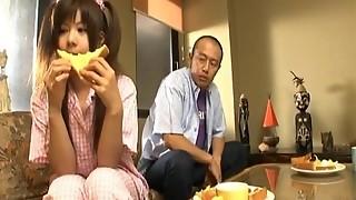 Shino Nakamura gets jism on screwed bald violate from inhaled fuckpole