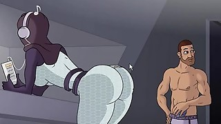 Adult showcase anime porn game dude nails femmes and alien female