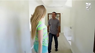 Latin babysitter ravages youthfull nubile towheaded Avril Hall!!!