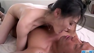 Kyoko Nakajima pointy boobs girl plumbed and made to drink