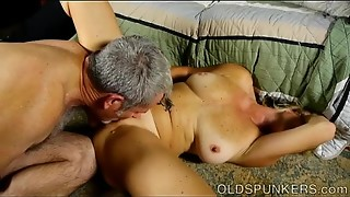 Fleshy aged spunker is a super-fucking-hot nail and luvs gloppy facials