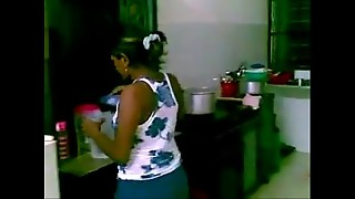 Tamil lady pummeled in kitchen