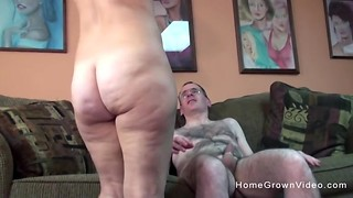Gross senior boy gets to penetrate a torrid and chesty mummy