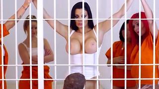 Jail honey having harsh ass-fuck