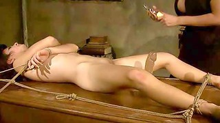 Domina Mandy Bright has a fresh sub to have fun with