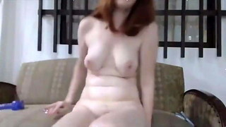 Captivating Sandy-haired Chick With Rump Ass-plug Fuckin' Wooly Cunny