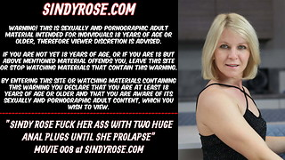 Sindy Rose poke her rump with meaty ass fucking buttplugs & mini-rosebud