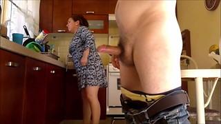 Massive latina grandma ravaged in the kitchen