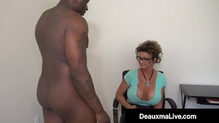 Milf Deauxma Gets Strap on dildo Porks Till She Squirts!