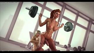 -Onegai Muscle- HMV PMV SFM - How Intense Are The Dumbbells?