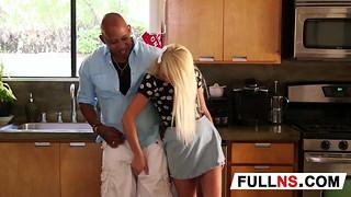 Ash-blonde Nubile Nanny Longing Big black cock