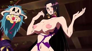 1 Lump edited ecchi moment from anime nude Boa Hancock