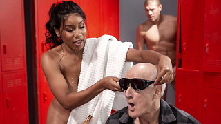 Jenna Foxx Acts Unsighted and gets a enormous impaler for the grief