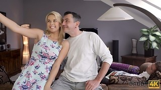 DADDY4K. Spectacular Fantasy Nikki gives BFs daddy her muff