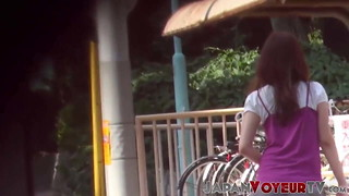 Chinese stunner taped urinating in public by hidden cam