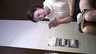 Chinese Damsel with maxi pad at wc