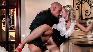 VIP Romp VAULT - Fashionable Honey Pounds With Boyfriend By The Fireplace