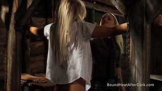 G/g Platinum-blonde Student Caught And Put In Chains