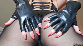 Female dom Princess in Spandex and leather