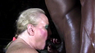 Milky college lecturer adores youthful dark-hued cock. Mature Pervert