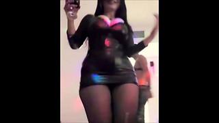 SOFIADVIR DANCING IN Ebony Stocking