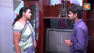 saree aunty seducing and displaying to TV repair stud .MOV