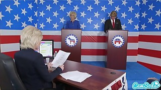 donald trump and hillary clinton pounding bernie sanders and megan kelly in presi