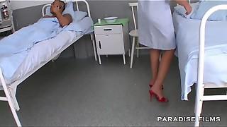 Nurse Soles Fetish at the Health center