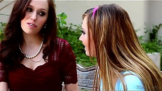Enormous boobed Step-Mother Savannah Fyre and Tiff Bannister