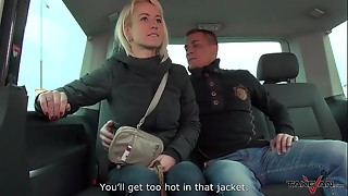 Cuckold huge-boobed wifey smashes a stranger in traffic &amp_ Mea Melone record it