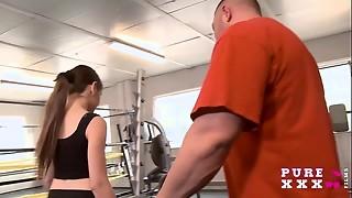 Lil' Australian pokes her gym teacher