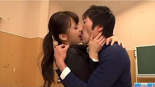 Filthy instructor Yui Oba heads sleazy on a appetizing dick