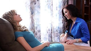 Lezzie lovemaking under mental domination - Angela Sommers, Jayden Jaymes