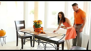 Passion-HD - Fellow smashes his step daughter-in-law Carolina Sweets on Thanksgiving