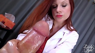 Doctor'_s Viagra Schlong Cure: Utter Vid Hand job by Chick Fyre female domination