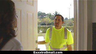 ExxxtraSmall - Mischievous Nubile Screwed By Mechanic