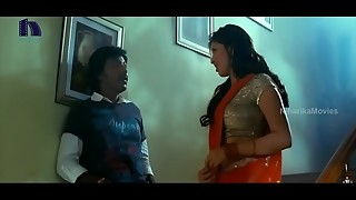 Lakshmi Rai In Crimson Saree Lawrence And Lakshmi Rai Romantic Kanchana Vid Sequences