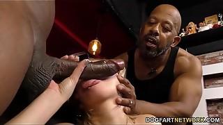 Bi-racial Assfuck Gang-fuck with Big black cock Cockslut Kate England
