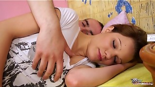 Teenyplayground Sleeping nubile screwed firm and packed jaws with jism