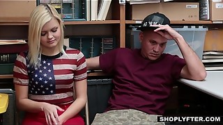 Shoplyfter - Gf Nailed By Sleazy Officer and Beau Witnesses