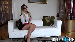 PropertySex - Sumptuous Hungarian real estate agents has lovemaking with Brit customer